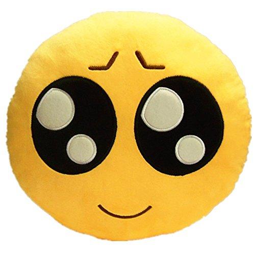 32cm Yellow Play Cute Emoji Plush Pillow
