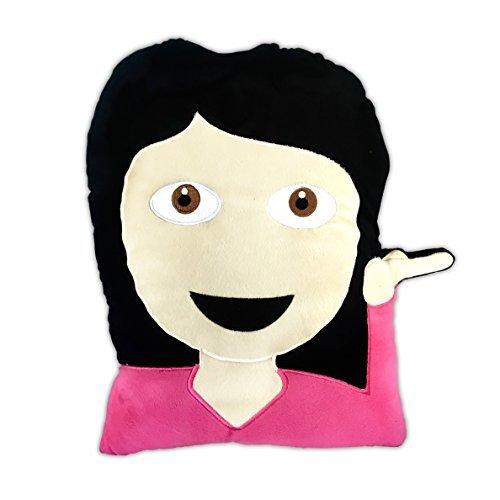 Emoji Gear Girl Diva Emoji Plush Pillow 17-Inch