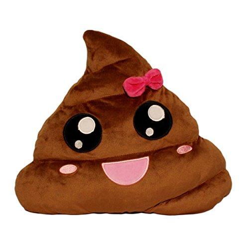 Girl Poop Emoji Plush Pillow