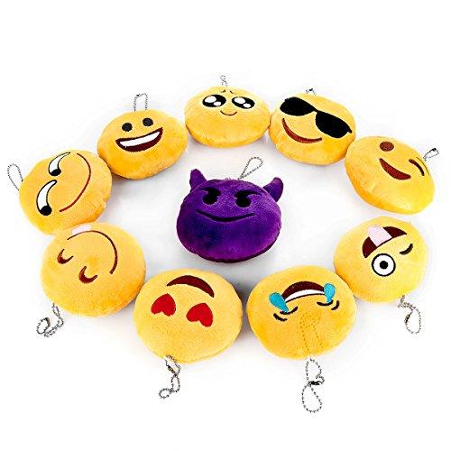 Vinsun Emoji Plush Pillow Decorations Party Supplies Favors Set of 10