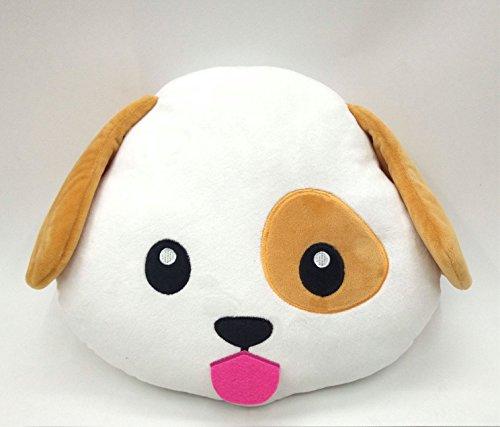WEP Dog Puppy Emoji Pillow Smiley Emoticon Cushion Stuffed Colorful Plush Toy 32cm New