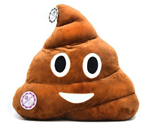 YINGGG Poop Emoji Plush Pillow Round Cushion Toy 32 x 32 x 10 cm