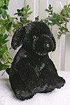 The Build a Bear Factory Black Satin Lab Dog Stuffed Doll