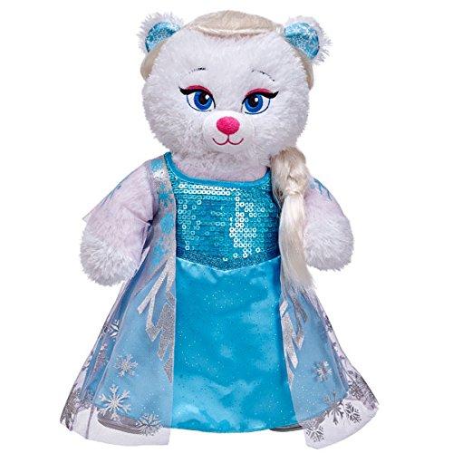 Build A Bear NEW Disneys FROZEN Elsa White Bear with Outfit Hair