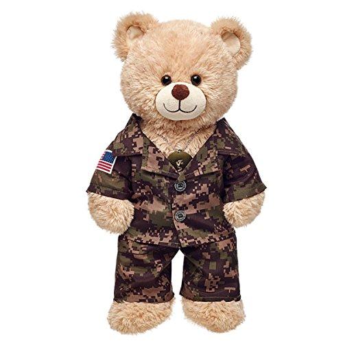 Build-a-Bear Workshop Green Digital Camo Teddy Bear Outfit 3 pc
