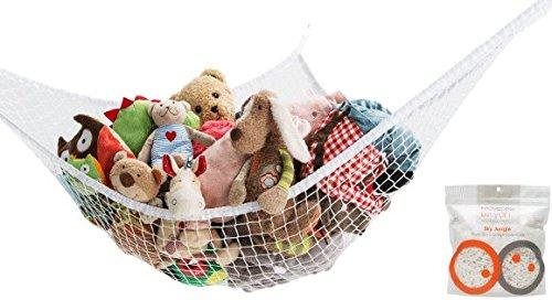Mayapple Baby - Sky Jungle - Premium Plush Toy Storage Hammock - Organize Stuffed Animals and Toys in Kids Room - Stylish Pet Net