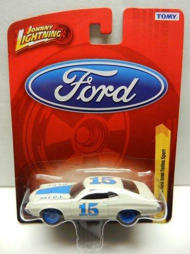 1972 Ford Gran Torino Sport White Blue Diecast 164 Scale Car