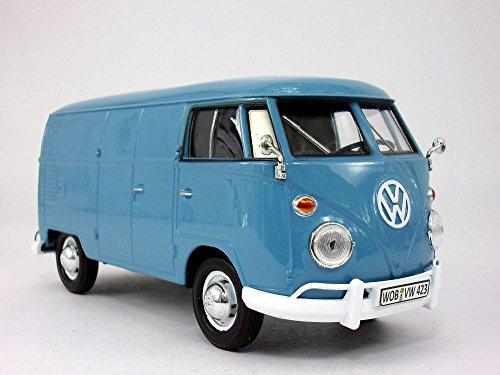 Volkswagen - VW - T1 Delivery Bus Van 124 Scale Diecast Metal Model - BLUE