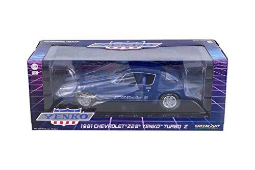 1981 Chevy Z28 Yenko Turbo Z Hard Top Blue - Greenlight 13520 - 118 Scale Diecast Model Toy Car