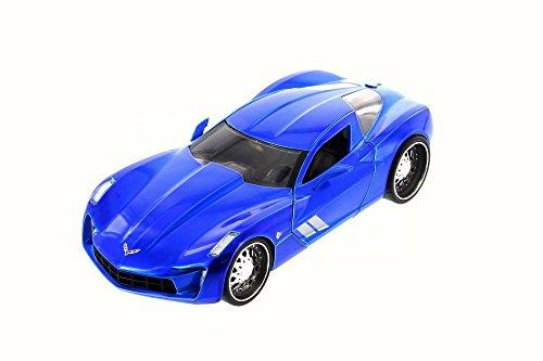 2009 Chevy Corvette Stingray Concept Blue - JADA 97467 - 124 Scale Diecast Model Toy Car