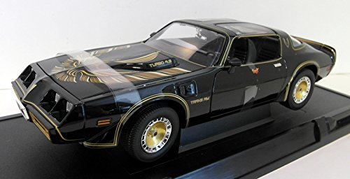 Greenlight Smokey The Bandit II 1980 Pontiac Trans AM T-Top Black with Gold 12944 - 118 Scale Diecast Model Toy Car