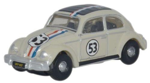Oxford Diecast NVWB001 Volkswagen VW Beetle Herbie the Lovebug 1148 Scale N Gauge Diecast in Display Case
