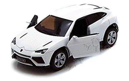 Scale 138 Lamborghini Urus pull back action diecast car White by Kinsmart