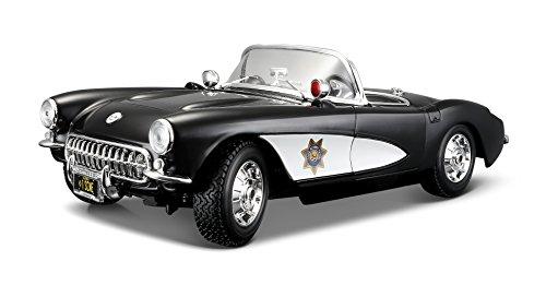 Maisto 1957 Chevy Corvette Police Diecast Vehicle 118 Scale