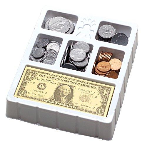 Educational Insights Play Money - Coins Bills Tray