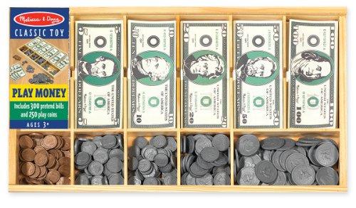 Melissa Doug Play Money Set