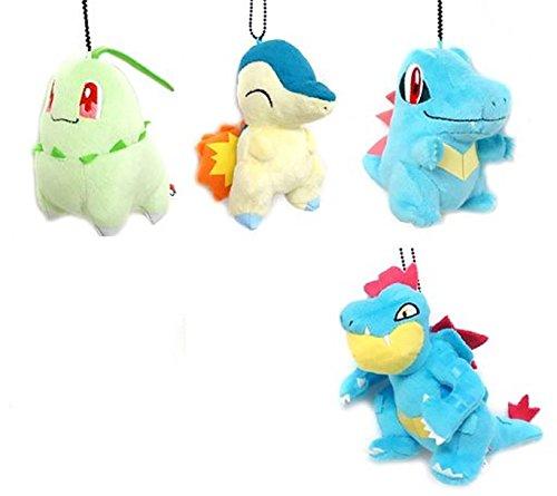 Banpresto Pokemon Plush Toys - 4 Pack
