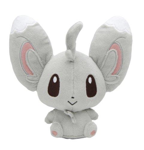 Pokemon Center Black White Plush Toy - 5 Chillarmy  Minccino Star Tag Japanese Import