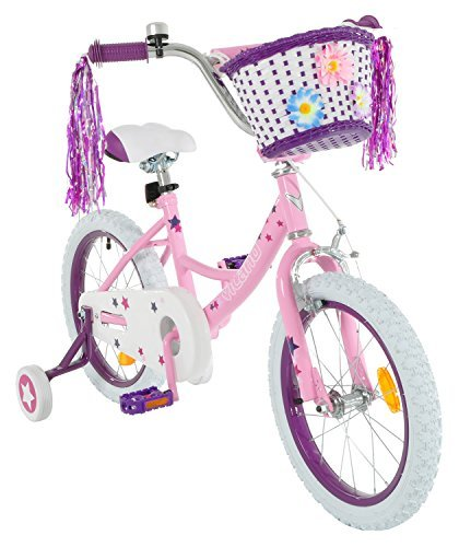 Vilano Girls 16 Inch Bike with Training Wheels and Basket by Vilano