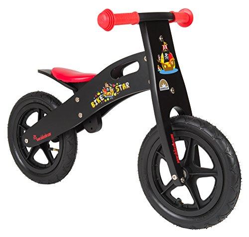 Bikestar 12 Inch 305cm Kids Balance Bike  Kids Running Bike - Wooden - Black