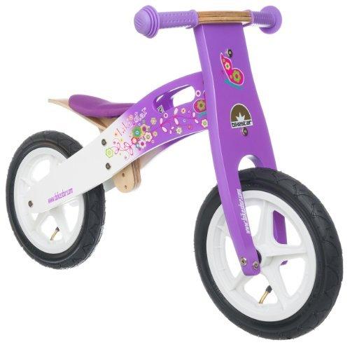 Bikestar 12 inch 305cm Kids Balance Bike  Kids Running Bike - wooden - Purple and White