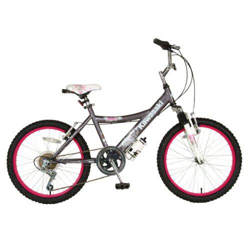 Kawasaki Kids Bike 20 inch Wheels 12 inch Frame Girls Bike Grey