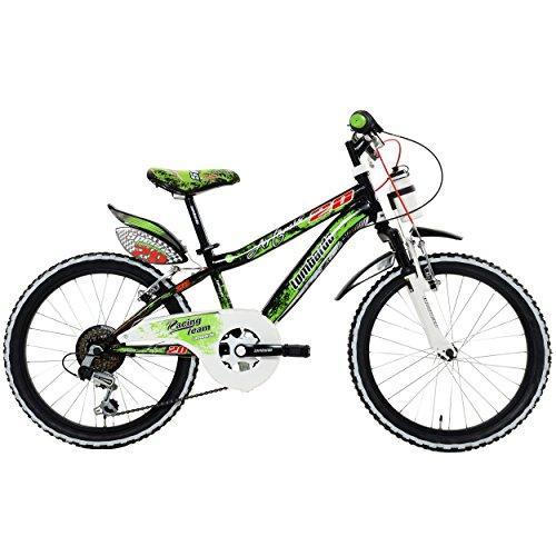 Lombardo Artemis Kids Bike 20 inch Wheels 11 inch Frame Boys Bike BlackGreen 99 Assembled