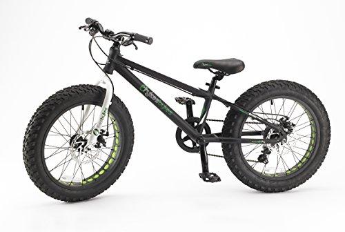 Tykesbykes Fat Tire Kids Bike 20 Wheel Black