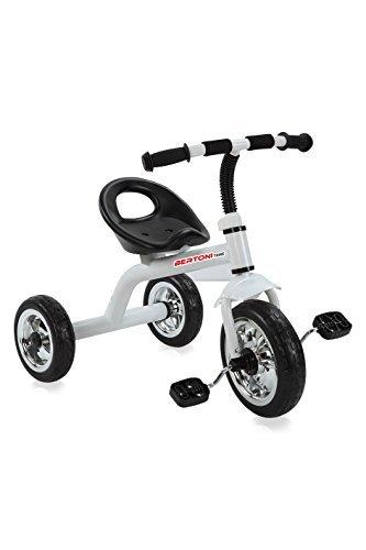 LORELLI BABY TRICYCLE A28 WHITE kid trike toddler child baby 3 wheeler bike by Lorelli