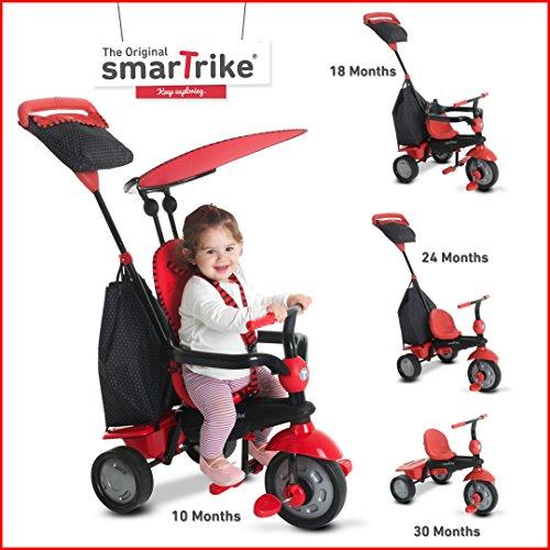 smarTrikeGlow 4 in 1 Baby Trike - Red