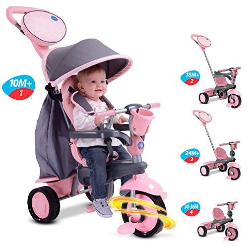 smarTrike Swing 4-in-1 Baby Trike Pink