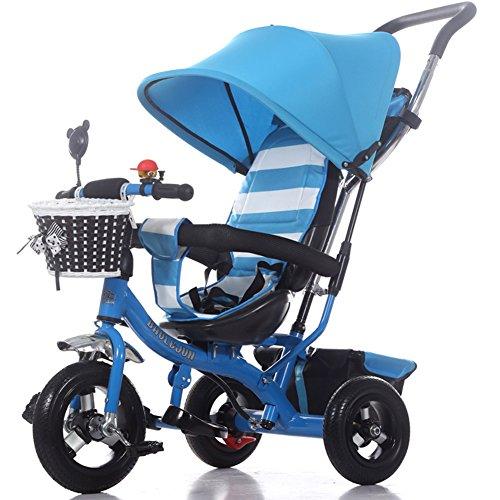 OLizee Multi-purpose Baby Kids Child Trike Bike Tricycle Stroller Pram Toddler Push Ride Pushchair Blue