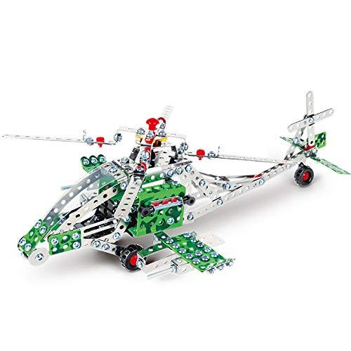 DIY Metal Model Building Kit Build and Play Toy Set STEM Learning Sets Erector Sets Kids Toys Helicopter