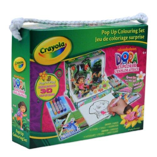 Dora The Explorer Crayola Pop Up Colouring Set - Pop N Play 3D Scene -