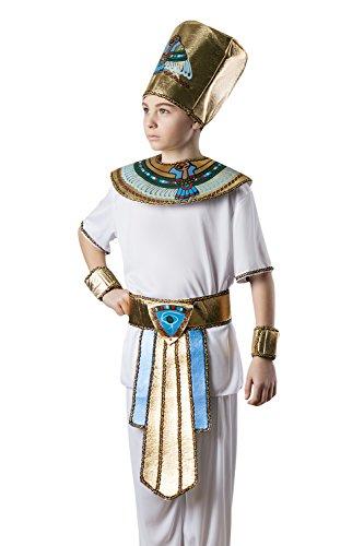 Kids Boys Pharaoh King Tut Halloween Costume Egyptian God Dress Up Role Play 3-6 years