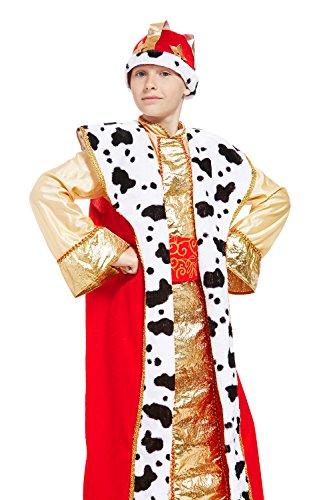 Kids Boys Renaissance King Halloween Costume Tsar Lord Dress Up Role Play 3-6 years