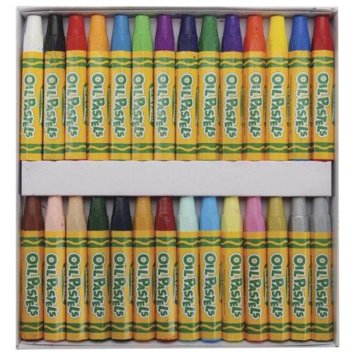 Crayola Oil Pastels Art Tools 28 ct Bright Bold Opaque Colors Jumbo Size Hexagonal Shape