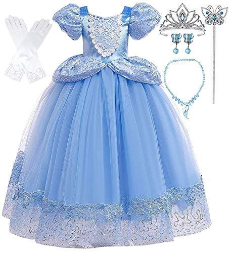 Romys Collection Princess Blue Cinderella Costume Party Dress-up Set 6-7 Blue 05
