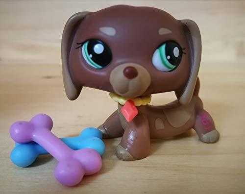 LPSDOG LPS Dachshund 1751 Brown Dog Puppy Cartoon Figures with Accessories Kids Boys Girls Collection Gift lps 1751