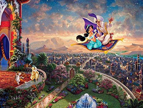 Ceaco Thomas Kinkade Disney Princess Collection Aladdin Jigsaw Puzzle 300 Pieces