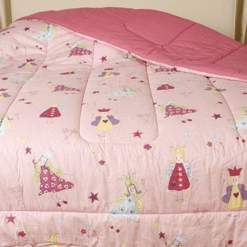 Fun Fairies Reversible Twin Comforter Girls Pink Princess Fairy Cotton Bedding by Laura Ashley