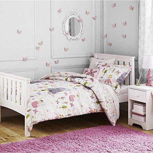 Sweet Adorable Easy Care Machine Washable Kids Fairy Princess Comforter Set Twin