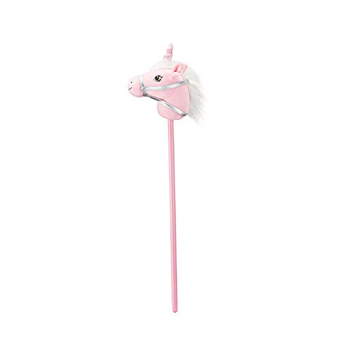 Breyer Plush Unicorn Stick Horse Pink