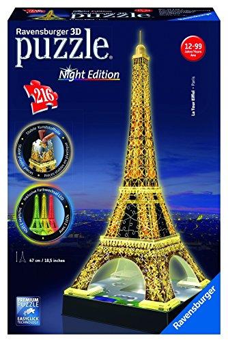 Ravensburger Eiffel Tower - Night Edition - 3D Puzzle 216-Piece