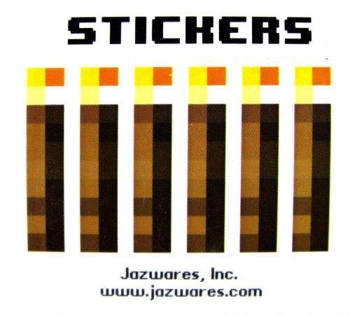Minecraft Jazwares Papercraft Sticker Set X6 Torches
