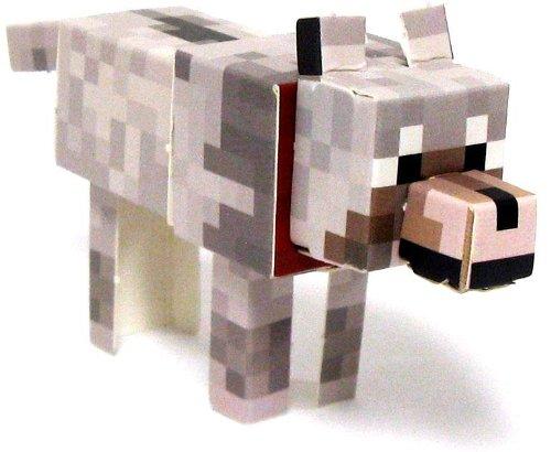 Minecraft Jazwares Papercraft Tame Wolf