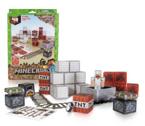 Minecraft Papercraft - Minecart Set Over 48 Piece