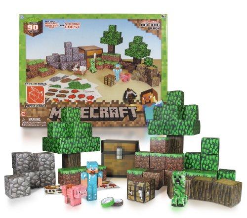 Minecraft Papercraft Overworld Deluxe Set Over 90 Pieces