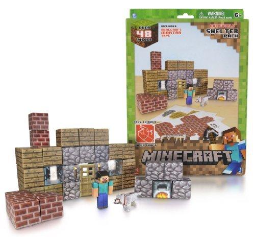 Overworld Shelter Pack Minecraft Papercraft Kit Series