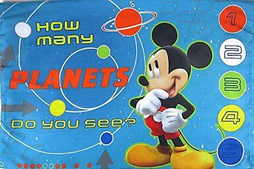 Disney Mickey Mouse Zero Gravity Pillowcase Bonus Stickers Size STANDARD Microfiber